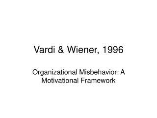 Vardi & Wiener, 1996