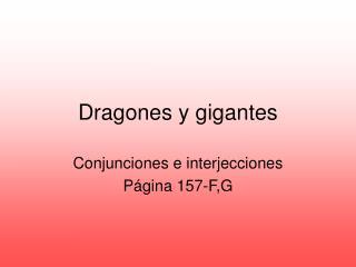 Dragones y gigantes