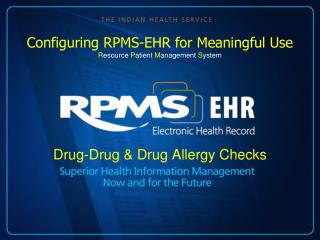 Drug-Drug & Drug Allergy Checks