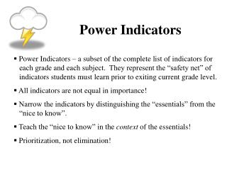Power Indicators
