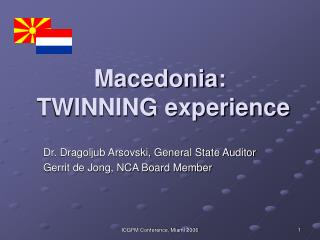 Macedonia:   TWINNING experience