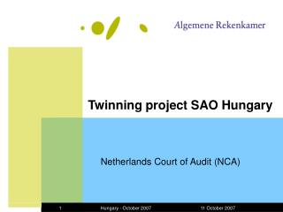 Twinning project SAO Hungary