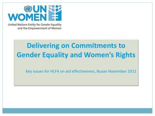 Delivering on Commitments to Gender Equality and Women's Rights