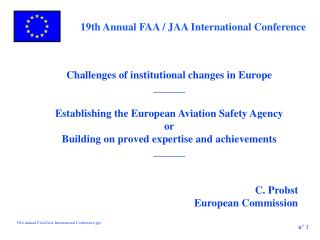 Challenges of institutional changes in Europe ______