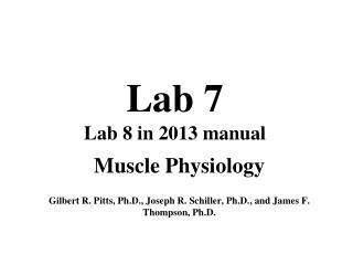 Lab 7 Lab 8 in 2013 manual