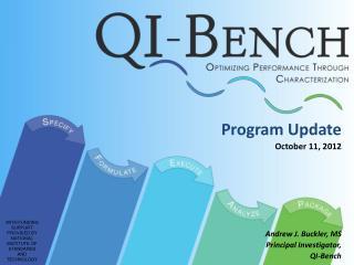 Program Update October 11, 2012 Andrew J. Buckler, MS Principal Investigator, QI-Bench