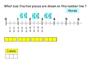 What size fraction pieces are shown on this number line ?