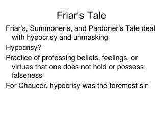 Friar's Tale