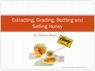 Extracting,  Grading, Bottling  and Selling Honey