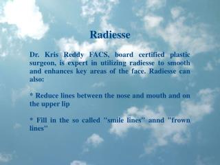 Dr. Kris Reddy Reviews Radiesse Dermal Filler
