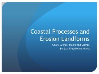 Coastal Processes and Erosion Landforms