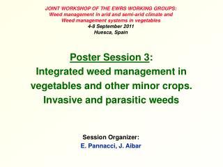 Session Organizer: E. Pannacci, J. Aibar
