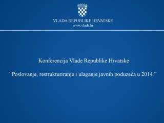 Poslovanje društava od posebnog državnog interesa za  Republiku Hrvatsku