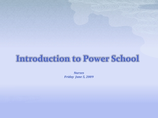 Using Medical Log Entries In PowerSchool