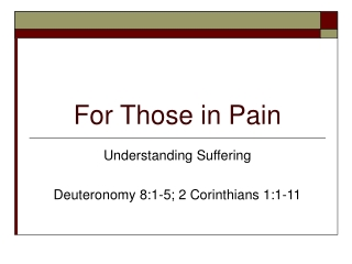 The Joy of Suffering with Christ 1 Peter 4:12-19