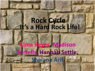 It's a Hard Rock Life!