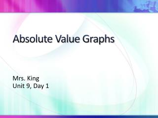 Absolute Value Graphs