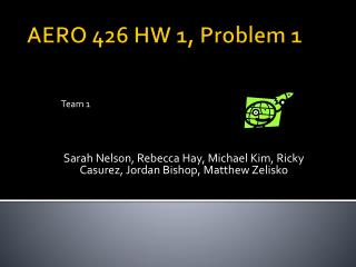 AERO 426 HW 1, Problem 1