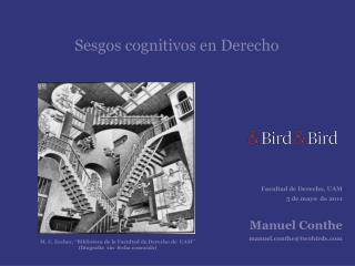 Sesgos cognitivos en Derecho
