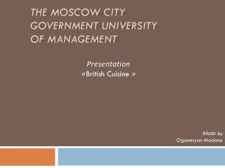 The Moscow City Government University of Management