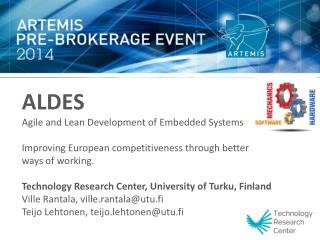 ALDES Agile and Lean Development of Embedded Systems
