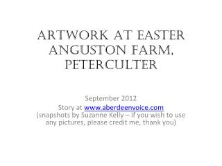 ARTWORK AT EASTER ANGUSTON FARM, PETERCULTER