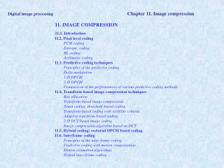 Digital image processing Chapter 11. Image compression