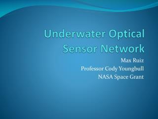 Underwater Optical Sensor Network