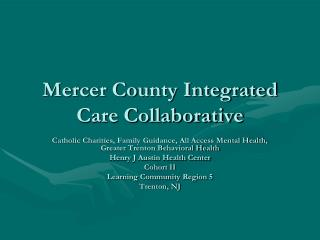 Mercer County Integrated Care Collaborative