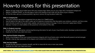 How-to notes for this presentation