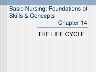 Basic Nursing: Foundations of  Skills  Concepts                               Chapter 14