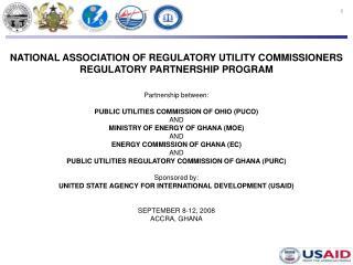 NATIONAL ASSOCIATION OF REGULATORY UTILITY COMMISSIONERS REGULATORY PARTNERSHIP PROGRAM