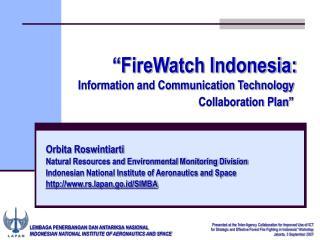 LEMBAGA PENERBANGAN DAN ANTARIKSA NASIONAL INDONESIAN NATIONAL INSTITUTE OF AERONAUTICS AND SPACE