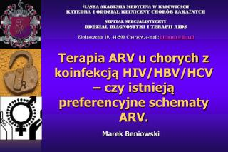 Terapia ARV u chorych z koinfekcją HIV/HBV/HCV – czy istnieją preferencyjne schematy ARV .