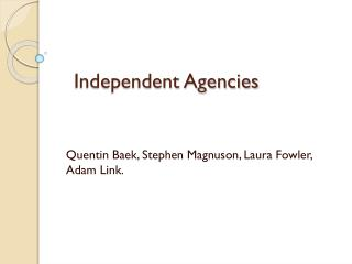 Independent Agencies