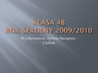 Klasa  4b rok szkolny 2009/2010