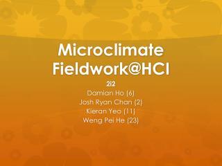Microclimate  Fieldwork@HCI
