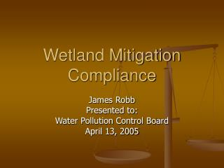 Wetland Mitigation Compliance
