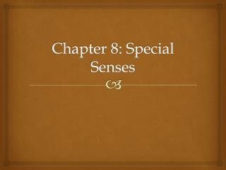 Chapter 8: Special Senses