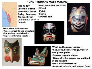 TLINGIT INDIANS MASK MAKING