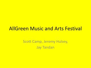 AllGreen  Music and Arts Festival