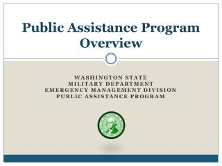 Public Assistance Program Overview