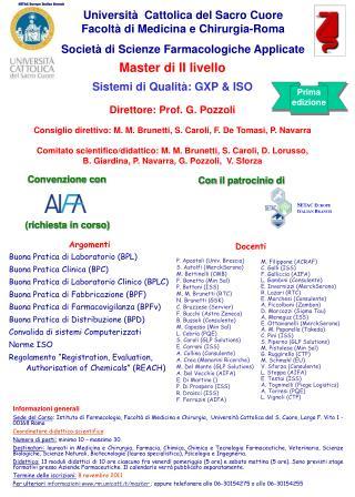 Università  Cattolica del Sacro Cuore                       Facoltà di Medicina e Chirurgia-Roma