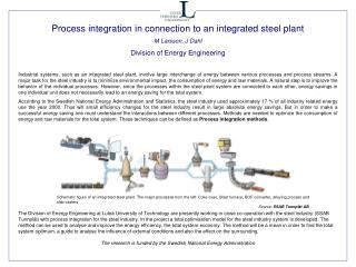 Process integration in connection to an integrated steel plant M Larsson, J Dahl