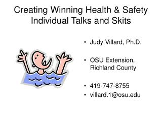 Creating Winning Health  Safety Individual Talks and Skits