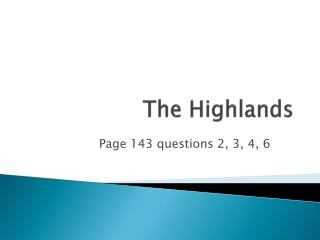 The Highlands