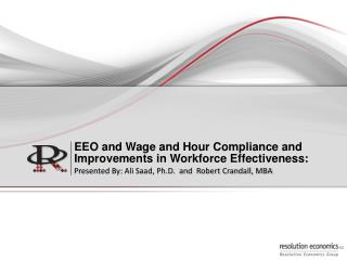 EEO  and Wage and Hour  Compliance  and  Improvements in Workforce Effectiveness :