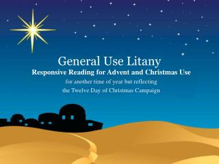 General Use Litany