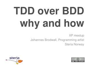 TDD over BDD why  and  how