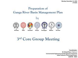 Preparation of  Ganga  River Basin Management Plan